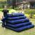 INTEX単ダブルエ入れ床ダンベル増大エアベド折り畳畳床キャンプマット厚めアウド湿式防止パッドアップグレードラインブルーベッド+フットポンプ183 CM*22 CM