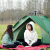 テートアウドオールオートキャンプ厚い防雨3-4人野外ビーチシングル2人で手軽にテート家庭用ブルーアップグレード2階建て