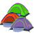 コルムアウドアトンキャンプ単層釣りカジュアル児童公園テン手を合わせて2人のテンカラーをランダムにします。