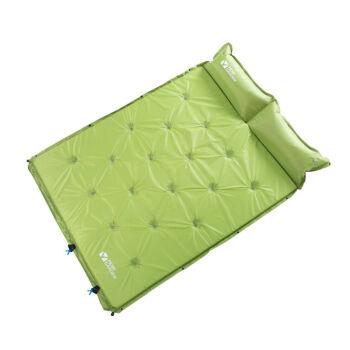 牧高笛アウドア装备キャンプグループみあわせ可能シングリル/ダブ湿气防止パッド自动エア入レジャ昼休みパッドSPの若緑/ダブル