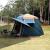 アウドアテン全自動5-8人厚め防雨二階3-4人家庭キャンプ六角アルミニウム棒墨緑ビッグコース11