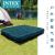 【米国INTEX】エア入レマイトレット家庭用ダブルエベアジッド厚めドリームグリーン携帯エアインキ折り畳みベッド【137 cm幅-紺床】+家庭用電気ポンプ+枕1つ