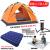 テントアキャンプ全自動テートファミリースーツ3-4人2人野外釣りダンベルキャンプ防水テートコース二