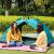 盛源SHENGYUAN Tentアウ3-4人キャンプ全自動スピディィオープンダブ防水アウドアレジャーテートセットインクグリーン